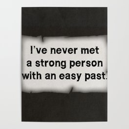Strong Person Quote Poster