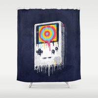 gaming Shower Curtains featuring Gaming by Ronan Lynam