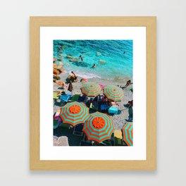 SUMBRELLAS BRIGHT Framed Art Print