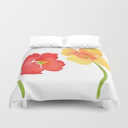 Red and Yellow Poppies Duvet Cover