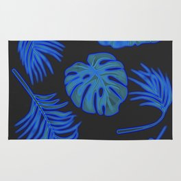 Blue leaves Rug