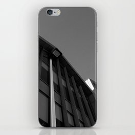 black and white building abstract iPhone Skin