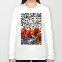 mushrooms Long Sleeve T-shirts featuring Mushrooms by Sumii Haleem