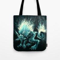 werewolf Tote Bags featuring Werewolf. by Danilo Sanino