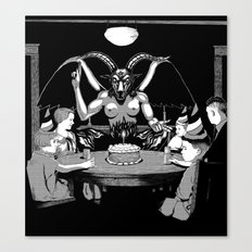 Happy Birthday Baphomet Canvas Print