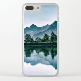 Alpine Reflection Clear iPhone Case