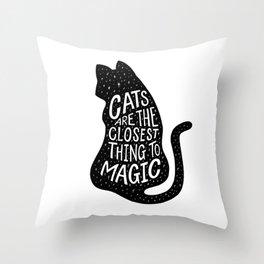 Cat Magic Throw Pillow