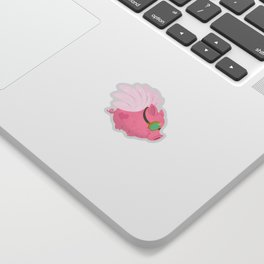 Flying Pink Pig Sticker