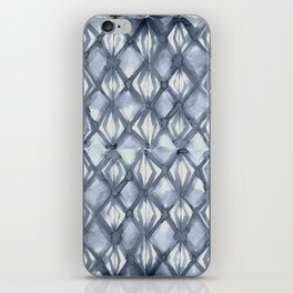Braided Diamond Indigo Blue on Lunar Gray iPhone Skin