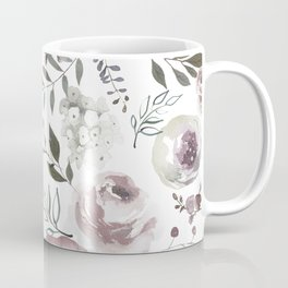 dusty rose floral watercolor Coffee Mug