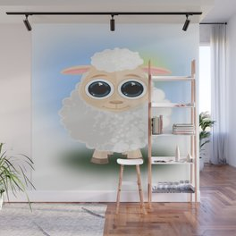 White Sheep Wall Mural