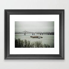 Barge Traffic II Framed Art Print