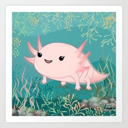 Axolotl baby kawaii Art Print
