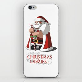Santa Claus Of Thrones Christmas is Coming iPhone Skin