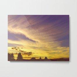 Painted Clouds  Metal Print