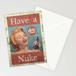 Nuka Cola - Custom Fallout Ad Stationery Cards