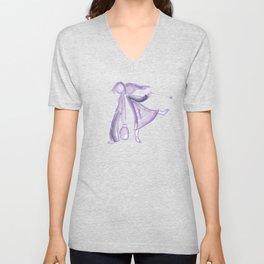 Purple girls Unisex V-Neck