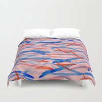 swim Duvet Covers featuring Swim by Sandra Arduini