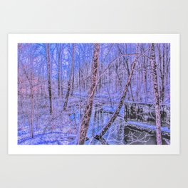 the sound of snow Art Print