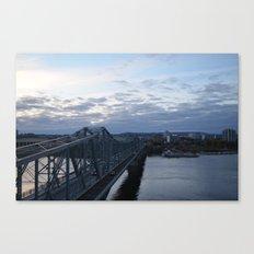 bridge to quebec Canvas Print