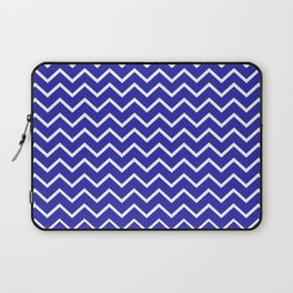 Zigzagged (White & Navy Pattern) Laptop Sleeve