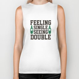 Feeling Single Seeing Double Biker Tank
