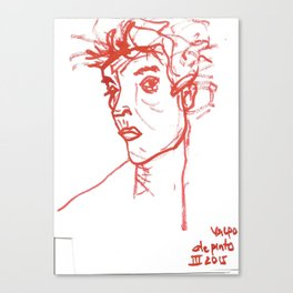 inspired in Egon Schiele 02 Canvas Print