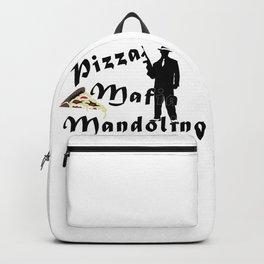 Italian style pizza mafia mandolino Backpack