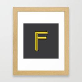 Letter F - 36 Days of Type Framed Art Print
