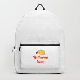Halloween Tacos Fiesta Motivational Design Backpack