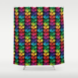 Cannabis Rainbow Shower Curtain