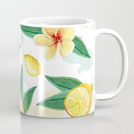 Floral Lemon Splash Coffee Mug