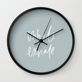 Inhale Exhale Blue Wall Clock