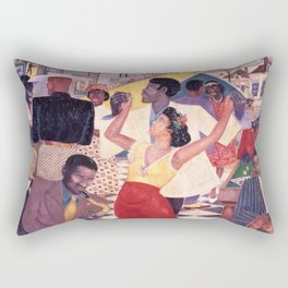 African American Masterpiece 'Beale Street Blues' by P. Hayden Rectangular Pillow