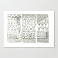 the neighbourhood Canvas Prints featuring Neighbourhood by Willy Ollero