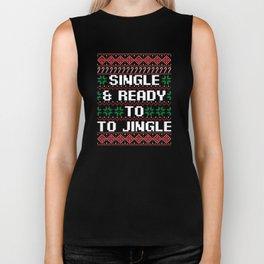 Singel & Ready To Jingle Ugly Christmas T-Shirt Biker Tank
