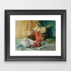 White tulips_1 Framed Art Print