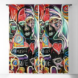 Muscle is Life Street Art Graffiti Love Blackout Curtain