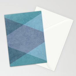the blue triangles Stationery Cards