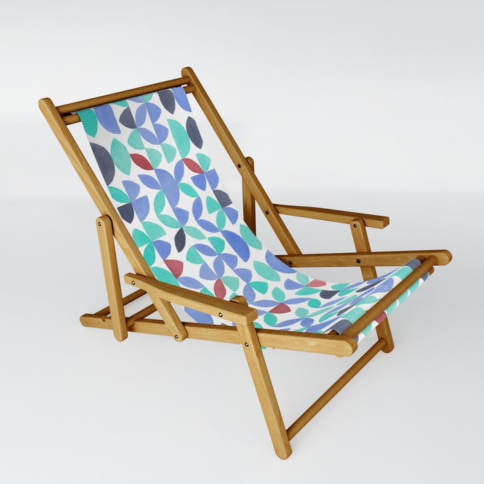 LITE GARDEN SALAD, hand-painted pattern by Frank-Joseph Sling Chair by  frankjosephillustration