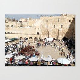 Temple Mount Gathering, Old City of Jerusalem Canvas Print