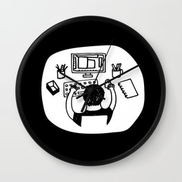 Stay at Home Designer Wall Clock