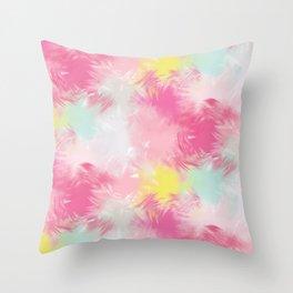 Blurred Blend - Pink Throw Pillow
