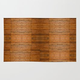 Rustic Wooden Boards I - Photo-sampled Wood Boards Rug