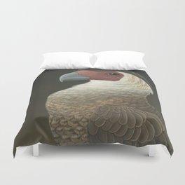Guadalupe Caracara (Caracara lutosa) Duvet Cover
