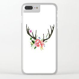 Flore Antler Clear iPhone Case