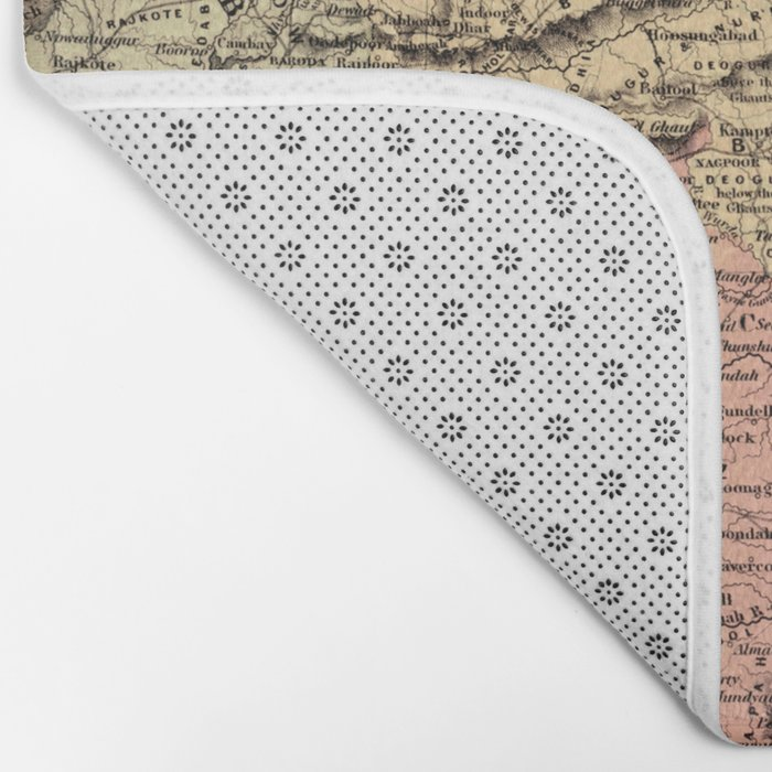 Map Of India 1857 Bath Mat