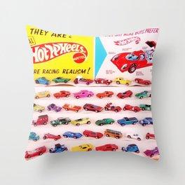 1970's Original Hot Wheels Redline Toy Department Store Display Poster Throw Pillow