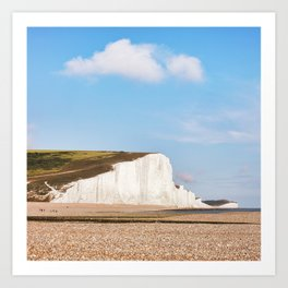 Seven Sisters Country Park, East Sussex, UK Art Print
