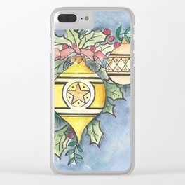 Evergreens and Gold Clear iPhone Case
